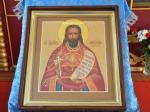 Икона с частицей мощей священномученика Виссариона, пресвитера Урджарского